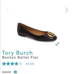 Tory Burch Benton Flat in Black size 6